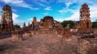 Time lapse Landmark Wat Mahathat temple