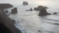 A time lapse landscape of the Big Sur coast line near the Pacific Ocean.