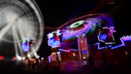 Time lapse long shot of carousel Goose Fair on April 01 2013 in Nottingham England