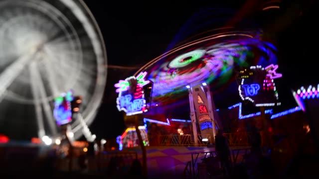 Time lapse long shot of carousel Goose Fair on April 01 2013 in Nottingham England
