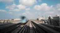 Time Lapse Metro Riding Through Downtown Dubai