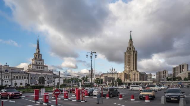 Zeitraffer-Skyline von Moskau