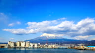 HD Time Lapse : Mountain Fuji and Japan industry zone