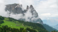 Time Lapse, Moving cloud at Seiser alm, Dolomites