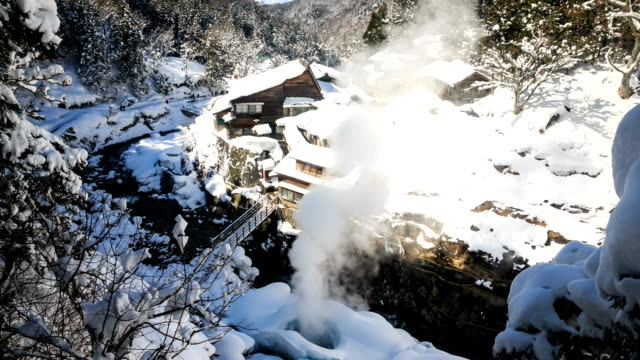 HD Time Lapse : Nagano, Japan valley at Yudanaka