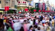 Zeitraffer-Fußgängerzone Nanjing Road