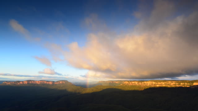Time lapse nature of Blue Mountains national park