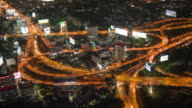 4K Time Lapse: Night Traffic In Bangkok, Thailand