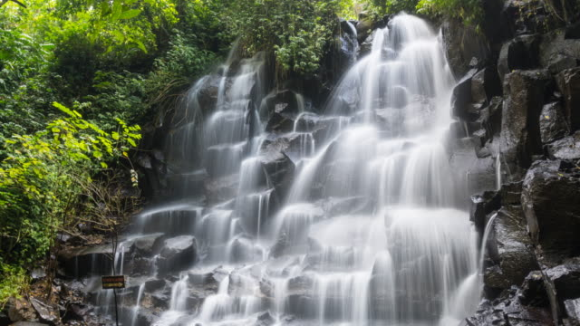 Time lapse of a beautiful tropical waterfall