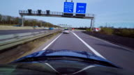 Time Lapse of a Car Driving on a Highway
