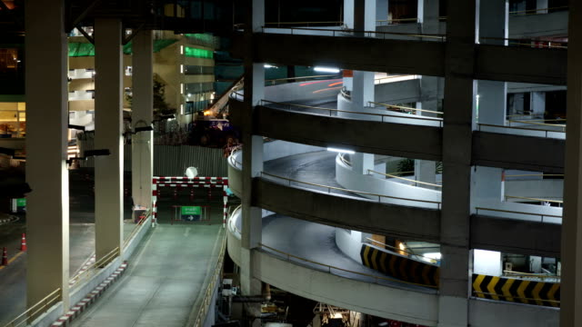 Time Lapse of a Car Park Entry.
