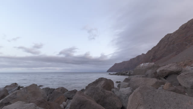 Time lapse of a deserted rocky island