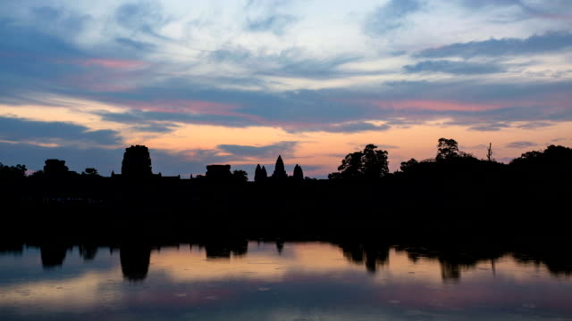 Time lapse of Angkor Wat Temple at sunrise, Cambodia