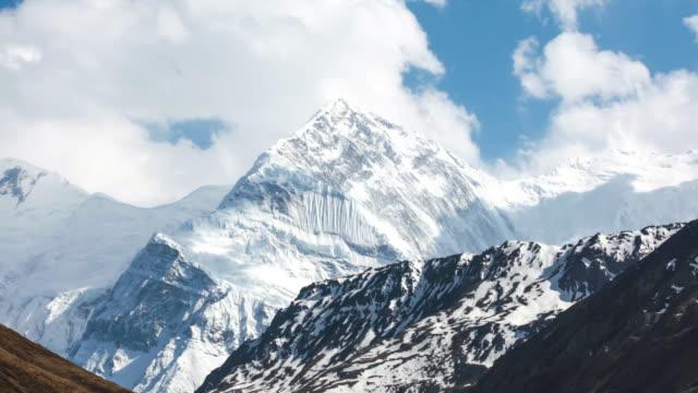 Time Lapse Of Annapurna Mountains, Himalaya, Nepal