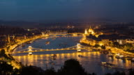 Time Lapse of at Chain Bridge and Parliament, Budapest