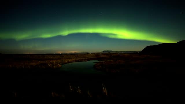 Time lapse of Aurora Borealis in Iceland