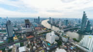 Time lapse of bangkok city