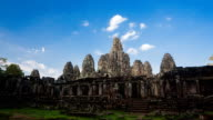 Time Lapse of Bayon temple evening time