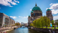 Time lapse of Berlin Cathedral. German Berliner Dom - Germany