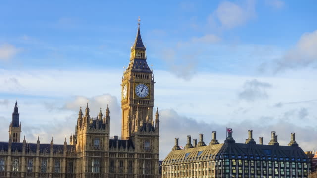 Time lapse of Big Ben and Houses of Parliament