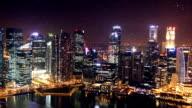 Zeitraffer von Stadt in der Nacht