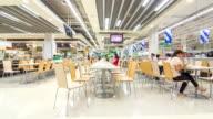 Zeitraffer der cafeteria im Supermarkt