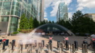 LONDON: Time Lapse of Canary Wharf Tube Station entrance