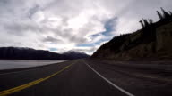 Time lapse of car driving POV