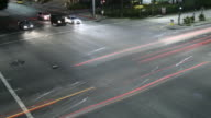 time lapse of cars at an intersection