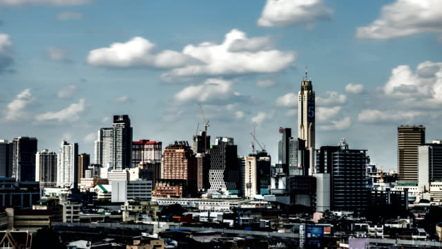 Time-lapse van Central Business District in Bangkok, Thailand