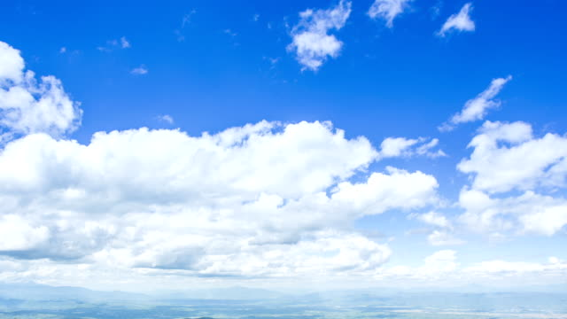 Hd Time Lapse Of Clouds Moving With Clear Blue Sky Background Stock ...