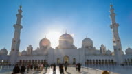 WS Time Lapse of courtyard of Sheikh Zayed Mosque