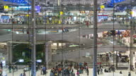 Time Lapse of Crowd and escalator working at Airport terminal