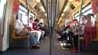 Time Lapse of Crowd inside a train (BTS), Bangkok
