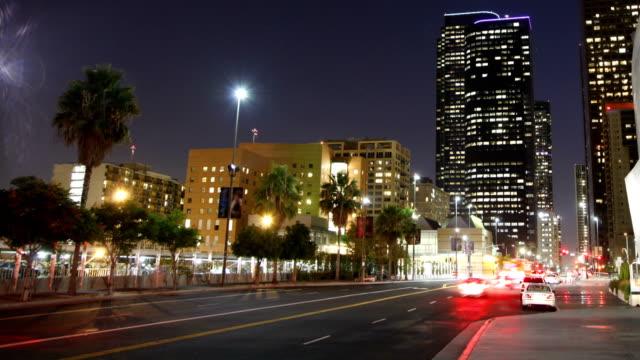 Zeitraffer von Downtown Los Angeles