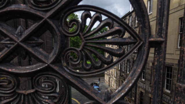 Time Lapse of Edinburgh Old Town Street from Above