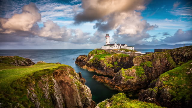 Time Lapse of Fanad Head Lighthouse in Ireland
