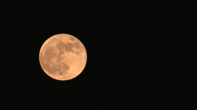 Time Lapse of Full Moon Rising on Halloween Day