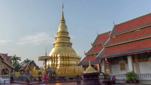 Time lapse of golden pagoda