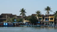 Time lapse of Hoi An waterfront, Vietnam