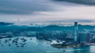 time lapse of hong kong skyline in daytime