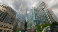 LONDON: Time Lapse of Jubilee Plaza, Canary Wharf