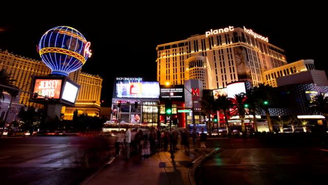 Time lapse di Las Vegas strip di notte road