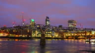Intervallo di tempo sullo Skyline di Londra