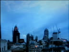 Time lapse of London skylines from sunset to night