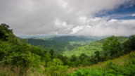 Time Lapse of Mountain landscape in Pai Thailand with rain forest and moving cloudy