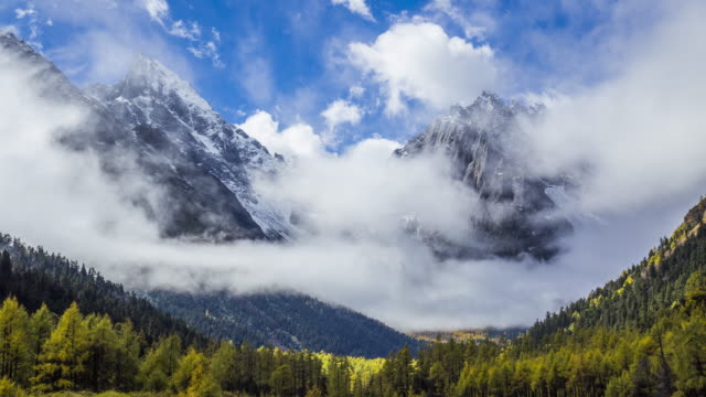 Time-lapse van berg