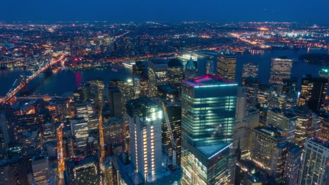 Intervallo di tempo di Nuovo York Città Skyline e Brooklyn