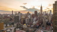 Time lapse of New York skyline
