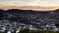Time Lapse of Northland suburb during sunset, Wellington, New Zealand